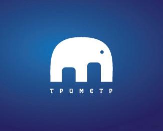 卡通大象商标Tpumetp
