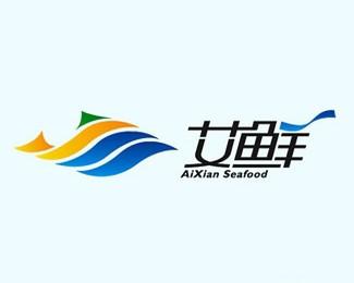 艾鲜海产品牌形象标志