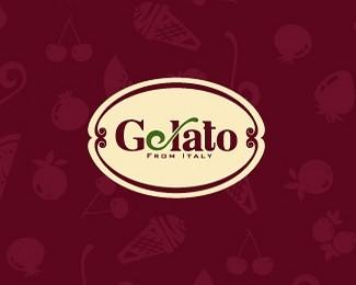 意大利吉拉多冰淇淋Gelato标志